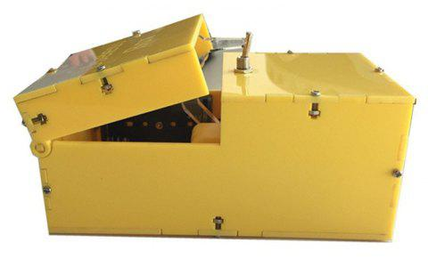 Useless Box Leave Me Alone Machine Turns Itself Off Fully Assembled Real Kit - YELLOW