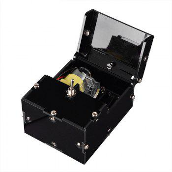 Useless Box Leave Me Alone Machine Turns Itself Off Fully Assembled Real Kit - BLACK