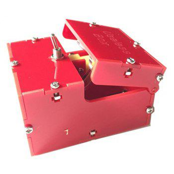Useless Box Leave Me Alone Machine Turns Itself Off Fully Assembled Real Kit - RED