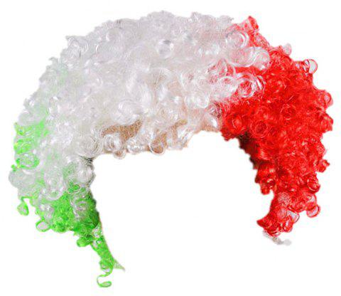 Fans Union Flags and Wigs Explode with Party Supplies - multicolor C