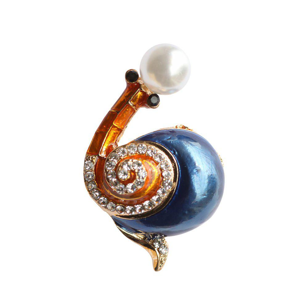PULATU Colorful Rhinestone Snail Brooches for Women - multicolor