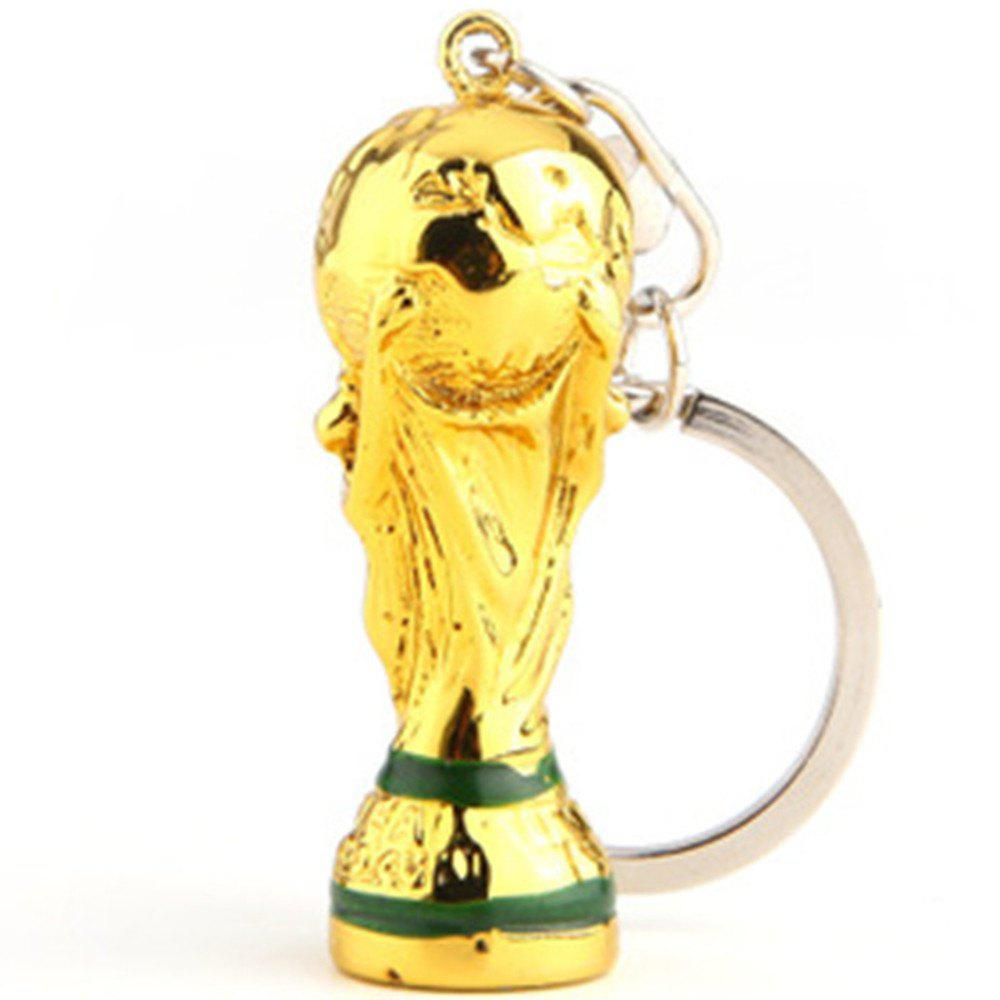 Football Emblem Creative Key Chain - GOLD