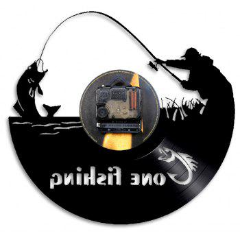 Vinyl Wall Clock Home Decal Room Decor Birthday Present - BLACK WITHOUT BATTERY