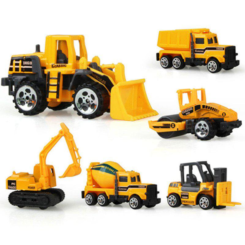 Mini Alloy Construction Vehicle Engineering Dump-car Dump Truck Model Class 6PCS 1 35 xugong xcmg xe215c excavator alloy truck diecast model construction vehicles toy
