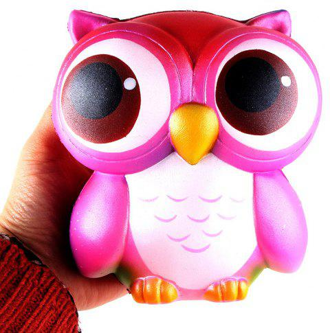 Owl Jumbo Squishy Slow Rising Straps Scented Bread Cake Kids Toy - HOT PINK