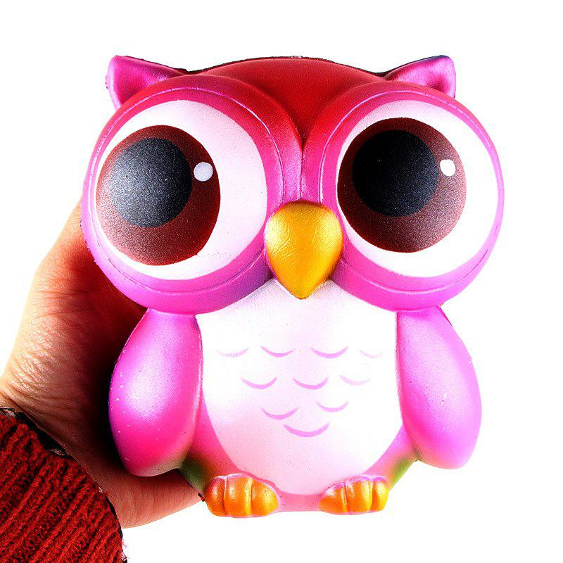 Owl Jumbo Squishy Slow Rising Straps Scented Bread Cake Kids Toy owl clockwork toy