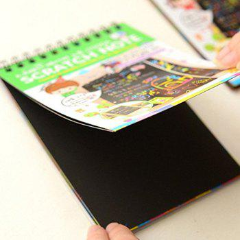 Magic Scratch Art Painting Book Paper Colorful Educational Playing Toy - YELLOW GREEN