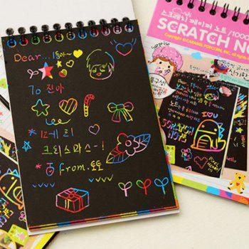 Magic Scratch Art Painting Book Paper Colorful Educational Playing Toy - PINK