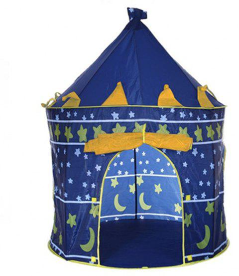Prince Folding Tent Children Boy Castle Cubby Play House Kids Gifts Outdoor Toy - BLUE EYES