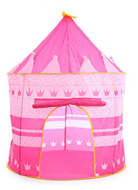 Prince Folding Tent Children Boy Castle Cubby Play House Kids Gifts Outdoor Toy - HOT PINK