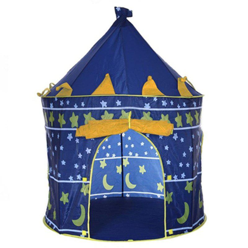 Prince Folding Tent Children Boy Castle Cubby Play House Kids Gifts Outdoor Toy children s tassel tent hung dome mosquito n baby play tent for kids cotton tipi indoor teepees for children playhouse for kids