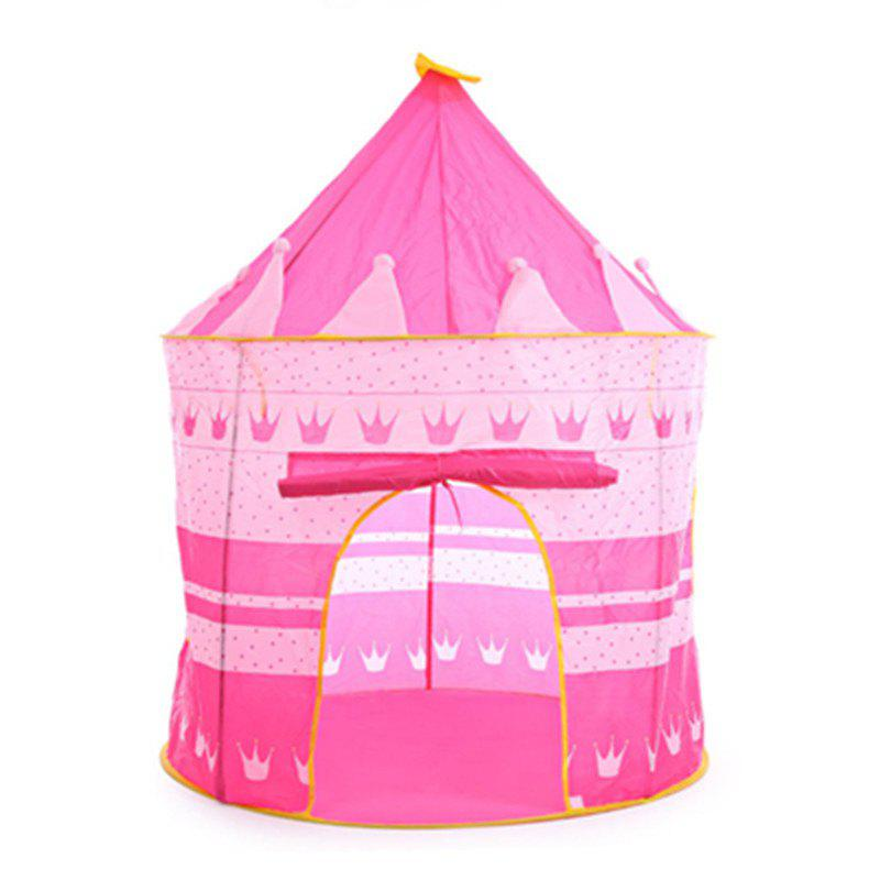 Фото Prince Folding Tent Children Boy Castle Cubby Play House Kids Gifts Outdoor Toy