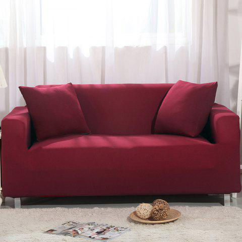 Elastic Sofa Cover for Single Person Double Three or Four Persons Combination Sofas - RED WINE DOUBLE SEATS SOFA:145CM-185CM