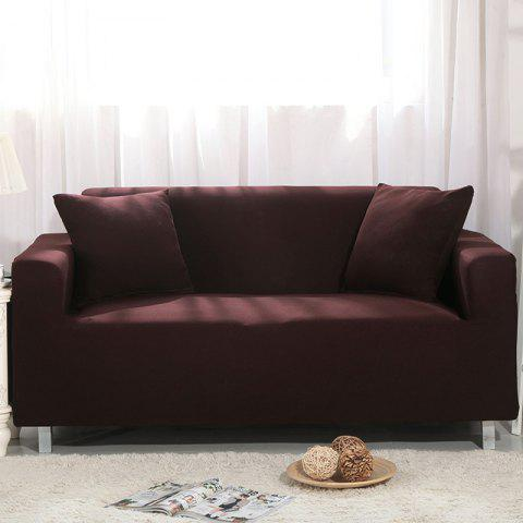 Elastic Sofa Cover for Single Person Double Three or Four Persons Combination Sofas - DEEP COFFEE THREE SEATS SOFA:190CM-230CM