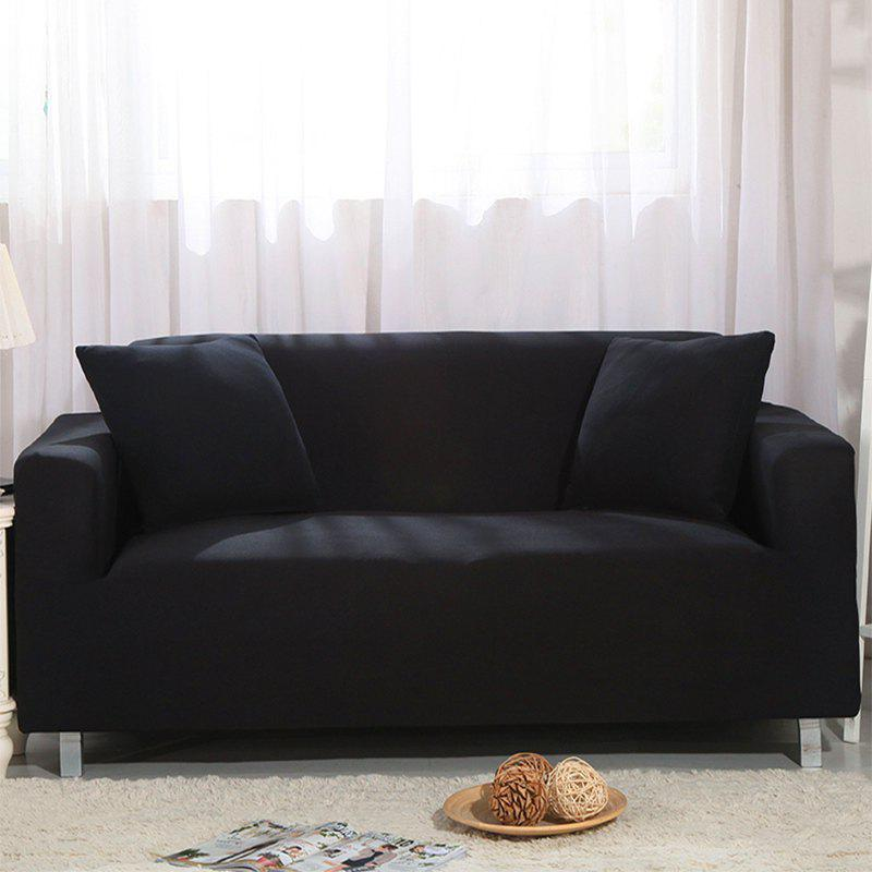 Elastic Sofa Cover for Single Person Double Three or Four Persons Combination Sofas - BLACK DOUBLE SEATS SOFA:145-185CM