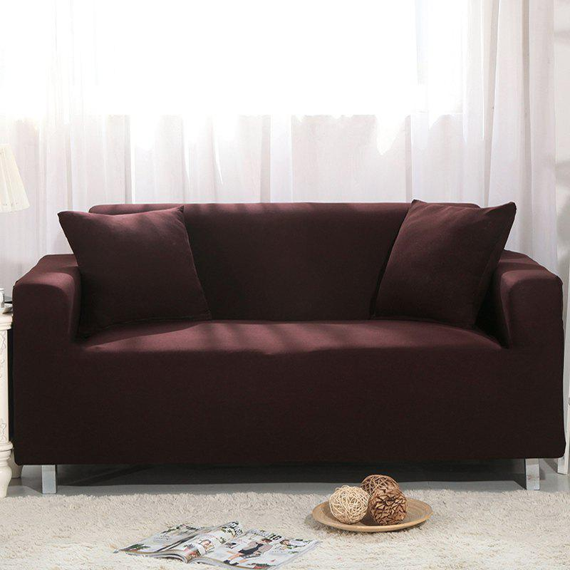 Elastic Sofa Cover for Single Person Double Three or Four Persons Combination Sofas - DEEP COFFEE DOUBLE SEATS SOFA:145CM-185CM