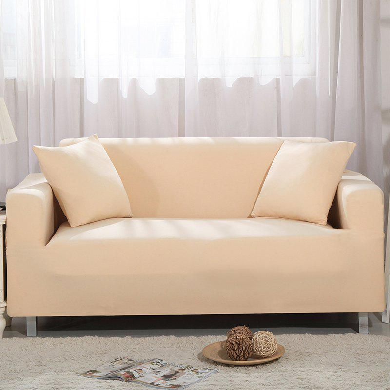 Elastic Sofa Cover for Single Person Double Three or Four Persons Combination Sofas - BEIGE SINGLE SEAT SOFA:90CM-140CM