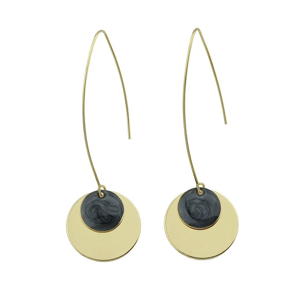 Colorful Enamel Gold-color Round Party Earrings gold frame colorful lens round sunglass