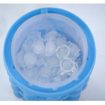 Saving Ice Cube Maker Kitchen Tools Ice Bucket - BLUE
