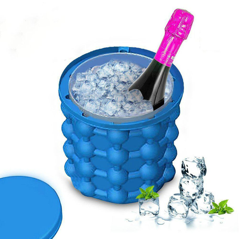 Saving Ice Cube Maker Kitchen Tools Ice Bucket new ice cube maker silicone bucket kitchen tools cubes machine refillable