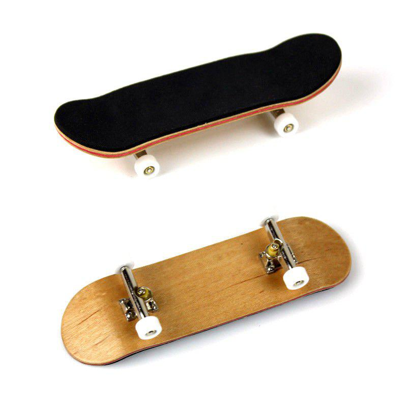 New Complete Wooden Fingerboard Finger Skate Board Grit Box Foam Tape Maple Wood - WHITE
