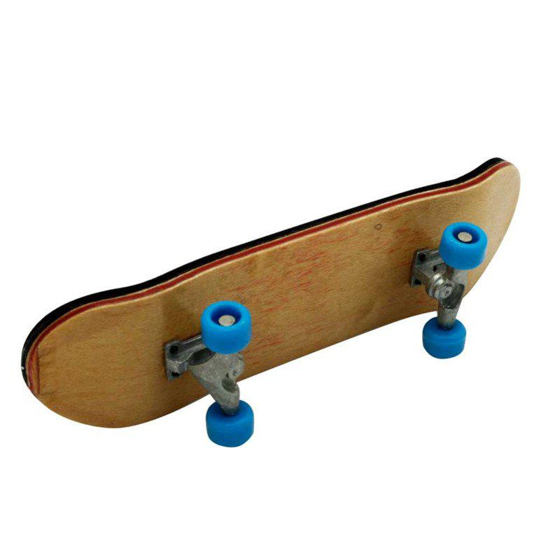 New Complete Wooden Fingerboard Finger Skate Board Grit Box Foam Tape Maple Wood - LIGHT BLUE