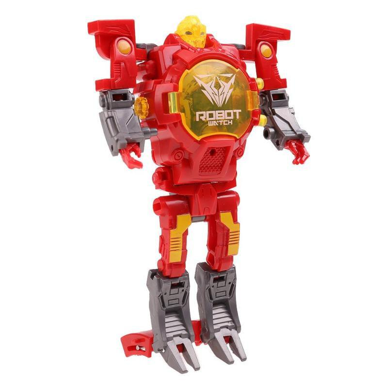 Creative Manual Transformation Multifunctional Children Electronic Watch Intelligence Deformation Robot Toy new arrival 4pcs set robot trains transformation action figure toys 13cm kay alf dynamic train family deformation train cars