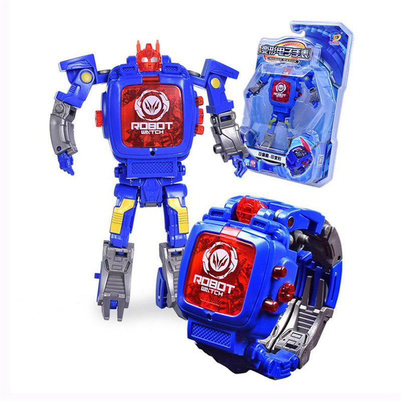 Creative Manual Transformation Multifunctional Children Electronic Watch Intelligence Deformation Robot Toy jinbao oversized bruticus warbotron onslaught brawl swindle blast off mmc predaking figure transformation robot toy