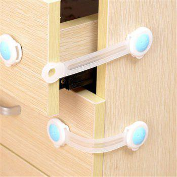 2PCS Baby Safety Locks Child Proof Cabinets Drawers Appliances Toilet Seat - WHITE