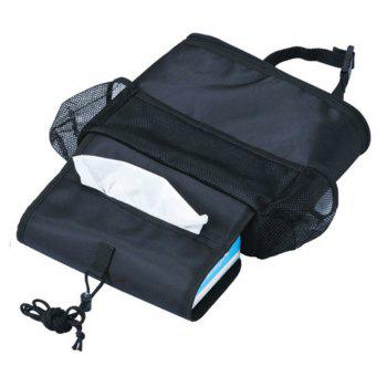 Creative Multifunctional Heat Preservation Hanging Storage Bag for Car - BLACK