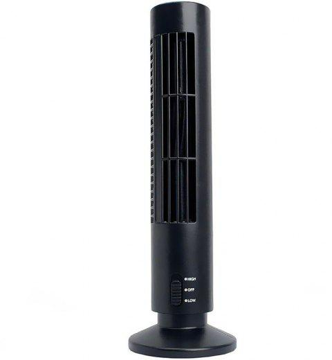 Portable Mini USB Tower Fan Cooling  Air Conditioner for Home Office - BLACK