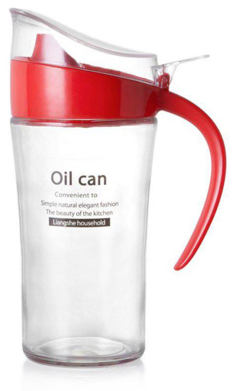 Large-Capacity Glass Leakproof Oil Can - RED
