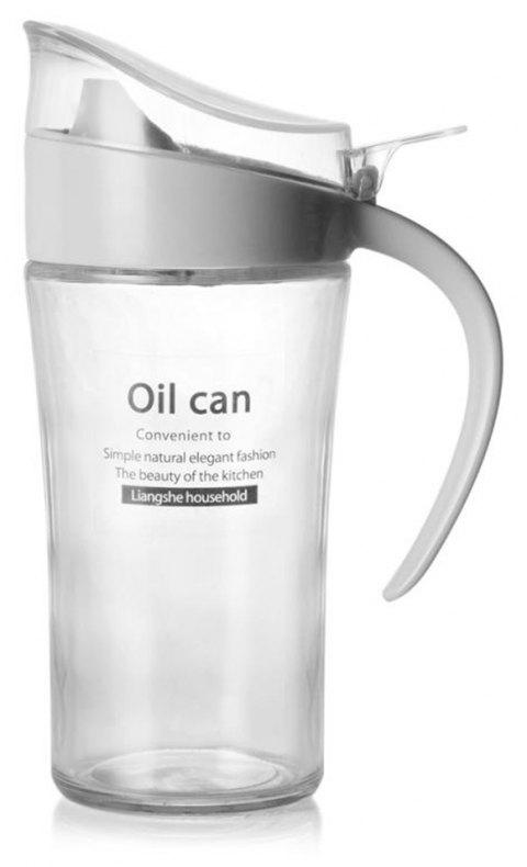 Large-Capacity Glass Leakproof Oil Can - LIGHT GRAY