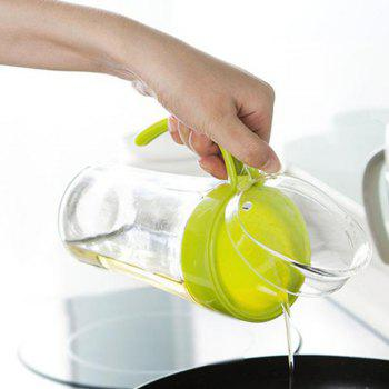 Large-Capacity Glass Leakproof Oil Can - GREEN YELLOW