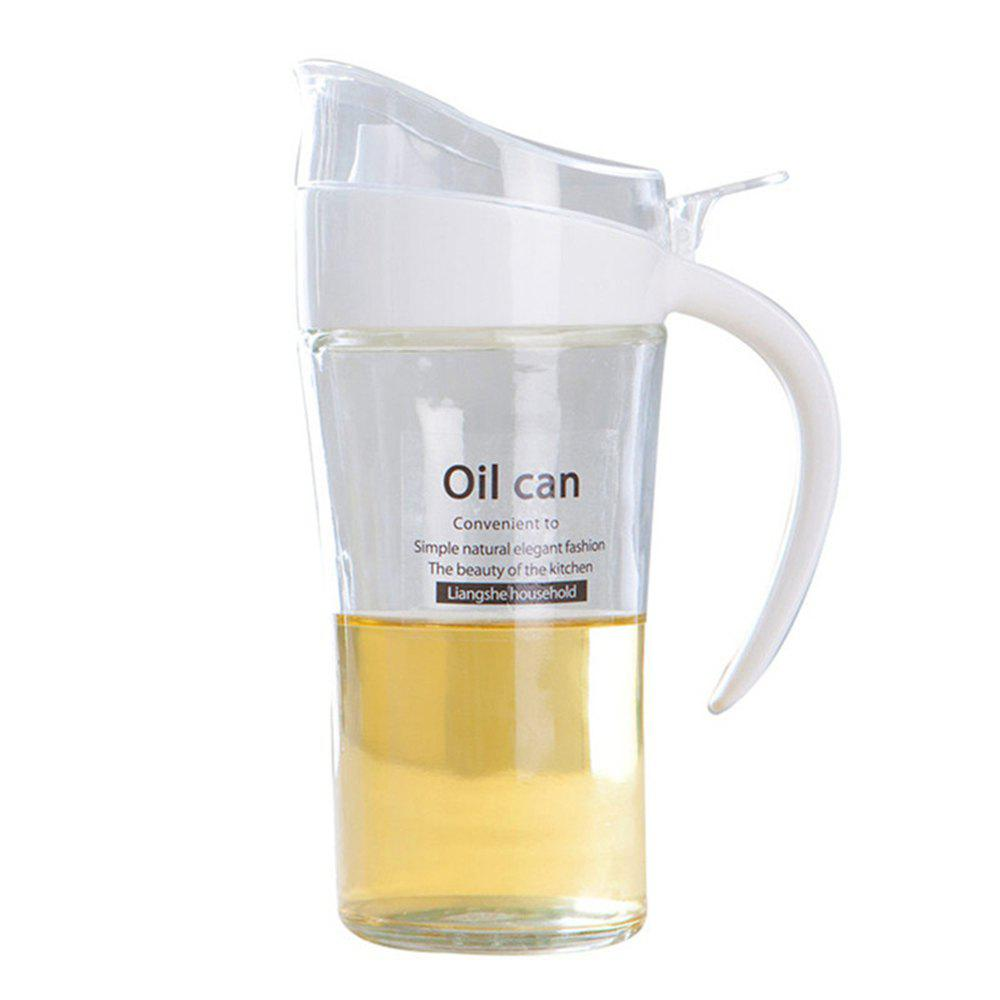 Large-Capacity Glass Leakproof Oil Can - WHITE
