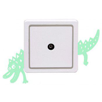 Noctilucent Engraving Adorable crocodile Cartoon Switch Sticker Wall - DRAGON GREEN