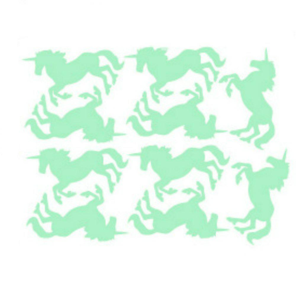 Noctilucent Engraving Adorable Unicorn Cartoon Switch Sticker Wall - DRAGON GREEN