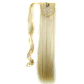 Long Straight Synthetic Wrap Around Ponytail Hairpieces Hair Extension for Women - BLONDE 24INCH