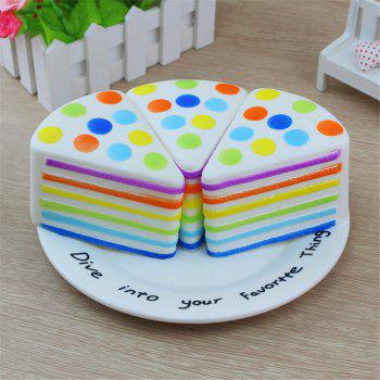 New Jumbo Squishy Triangle Round Cake 1PC - multicolor A