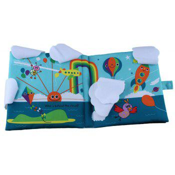 Baby Cloth Book Balloon Early Childhood Education Puzzle - multicolor A