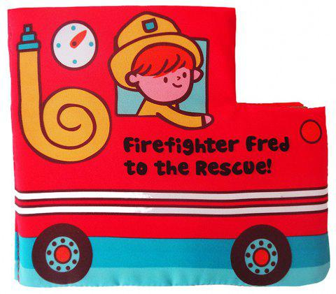 Fire Truck Cloth Book Early Childhood Education - multicolor A