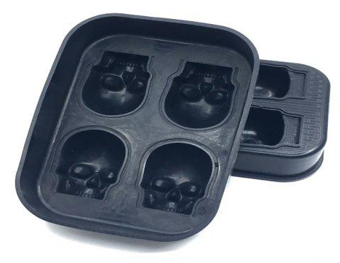 The Silicone Four Skeletal Ice Mold - BLACK
