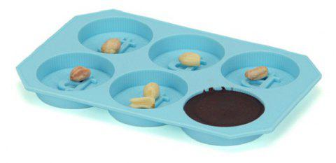 The Silicone Coin Form Ice DIY Baking Chocolate Cake Mold - JEANS BLUE