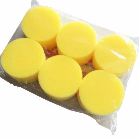 12PCS Waxing Polish Wax Foam Sponge Applicator Pads Fit for Clean Car Vehicle - YELLOW