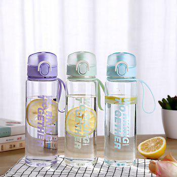 Creative Convenience Jump Cover Transparent Leakproof Snap Button Plastic Cup - LILAC