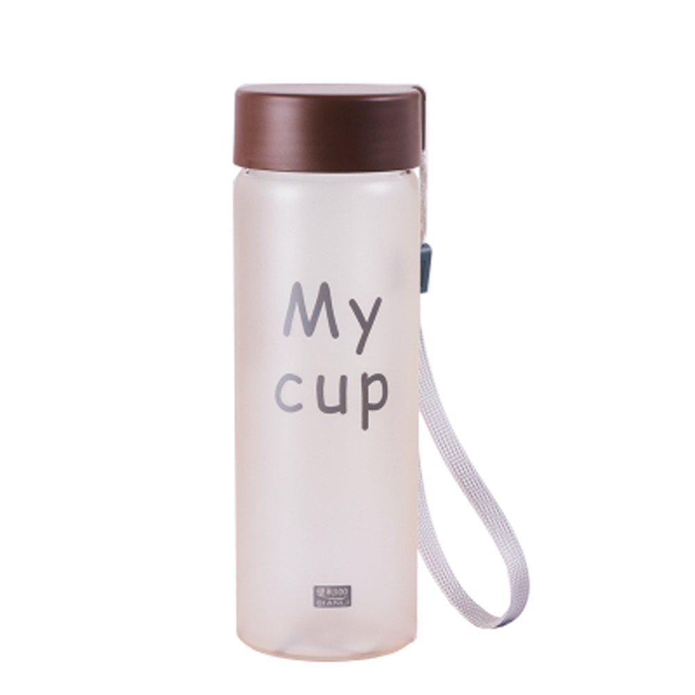 Temperature Discoloration Frosted Portable Glass Cup - COFFEE