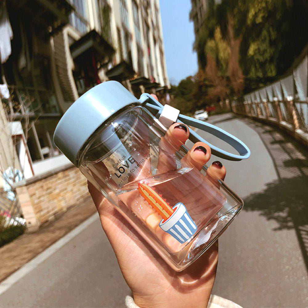 Portable Compact Simple Double Glass Cup - DAY SKY BLUE