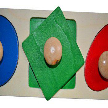 Early Education Toys Wooden Animal Geometry Claw Plate - multicolor A
