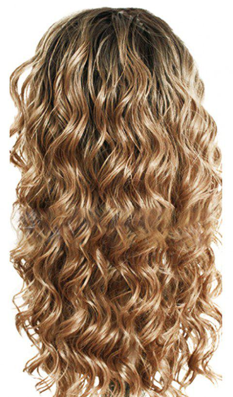 Chemical Fiber Front Lace Long Curly Hair - SAND 24INCH