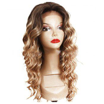 Chemical Fiber Front Lace Long Curly Hair Set - SAND 22INCH